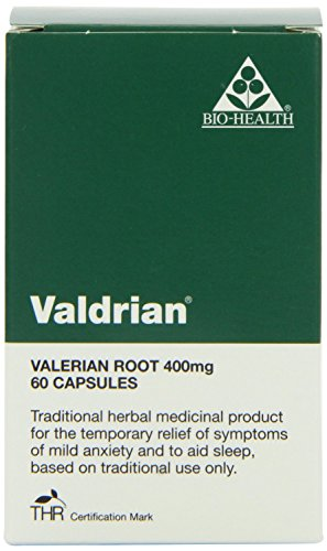 Bio Health 400mg Valdrian Valerian Root - Pack of 60 Capsules