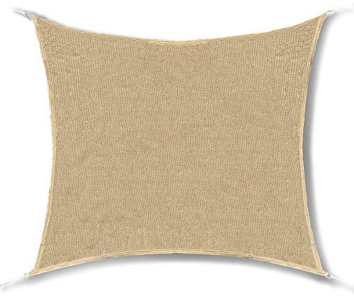 GE-UZ NC Shade Toldo Vela de Sombra Rectangular 3x4 | Toldos Impermeables Exterior | Toldo Terrazas | Todo Incluido | Toldos para jardín, Piscina y Terraza | Protección De Rayos UV | Toldos Terrazas