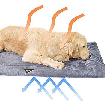 Couverture auto-chauffante pour chien et chat sans électricité Lavable en laine douce Tapis chauffant Couverture chauffante écologique