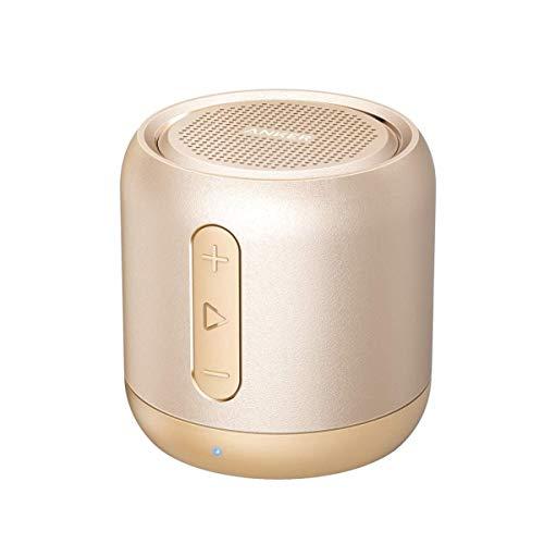 Anker SoundCore Mini Super Mobiler Bluetooth Lautsprecher Speaker mit 15 Stunden Spielzeit, 20 Meter Bluetooth Reichweite und Starkem Bass (Golden) (Generalüberholt)