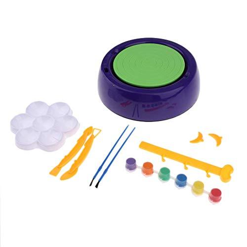 Tubayia Kinder Töpferstudio Töpferset Elektronische Töpferscheibe Tonwaren Bastelset Spielzeug Geschenk für Kinder