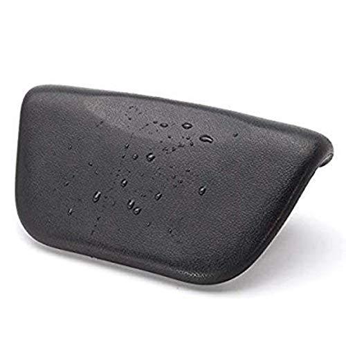 MYSdd Bañera de hidromasaje Pillow PU baño cojín con ventosas Antideslizantes, reposacabezas ergonómico Home SPA para la Cabeza Relajante, Cuello, Espalda y Black