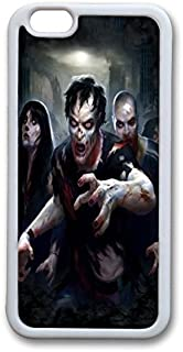 Zombie Apocalypse TPU Case Cover for iphone 6 plus 5.5 inch White