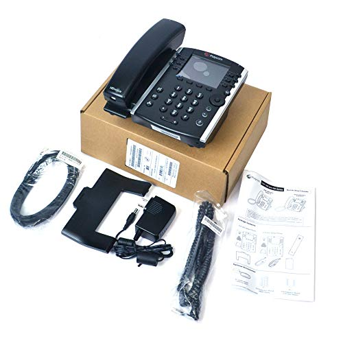 Polycom VVX 401 Corded Business Media Phone System - 12 Line PoE - 2200-48400-001 - AC Adapter (Included) - Replaces VVX 400