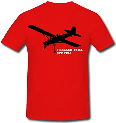 ALFASHIRT Fieseler Storch Fi 156 1936 Military Air Force Aircraft Model Red