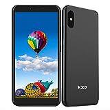 KXD 6A (2021) Teléfono Móvil Android 8.1 Smartphone Libre Dual SIM, Pantalla 5.5' Screen Movil Barato Triple Cámara Face ID 2500mAh Batería, 8G ROM 64GB SD Expandible GPS/WiFi/Hotspot, Negro