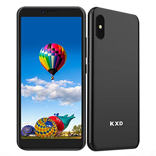 KXD 6A (2021) Teléfono Móvil Android Smartphone Libre Dual SIM Pantalla 5.5' Screen Movil Barato Face ID 2500mAh Batería 8G ROM (64GB SD Expandible), Negro