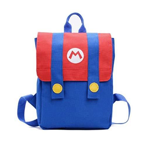 Kinder Cartoon Rucksack,Cosplay Color Blocking Leinwand Schulranzen Niedlich Rot Grün Anime Reisetasche Schultasche