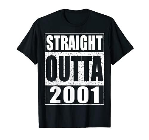 Straight Outta 2001 - Camiseta para regalo de 20 cumpleaños Camiseta