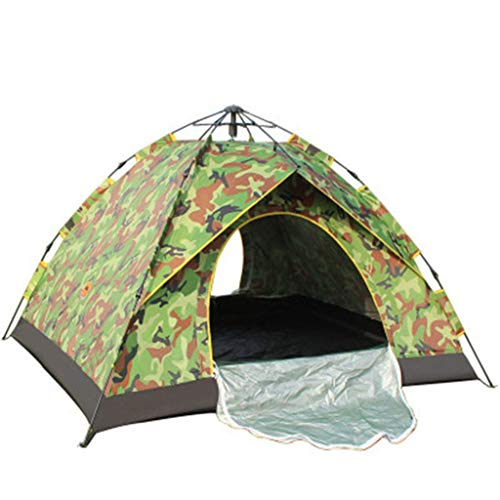FREEDOL Automatic Hydraulic Opening Tent, Rainproof And Sunproof Tent for 3-4 Persons, Family Camping Tent for Outdoor Camping-210 * 200 * 140Cm,camouflage