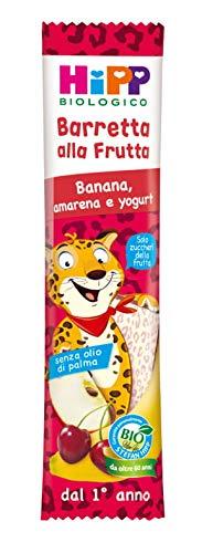 Hipp - Barrette Alla Frutta Bio, Gusto Banana, Amarena E Yogurt, 22 Pezzi da 23 G Ciascuno - 506 g