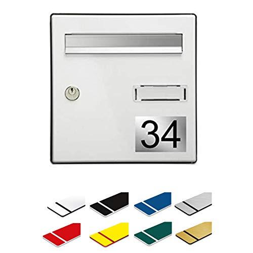 Numéro pour boite aux lettres personnalisable gravé PVC