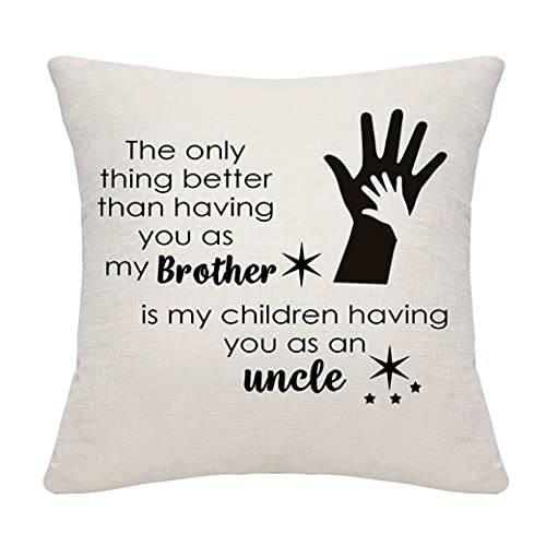 DANKHRA Brother Gifts Uncle Gifts Throw Pillow Cover Pillowcase Cushion...