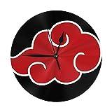 FETEAM Reloj de Pared Símbolo del Clan Na-RU-to Uchiha Relo