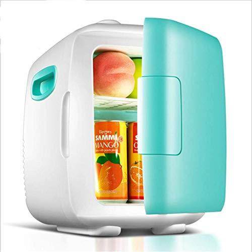 Home 5L Minikühlschrank, Autokühlschrank, tragbare Haushaltskühlbox, Thekenkühlschrank, kosmetischer Kühlschrank, geräuscharm (Farbe: Blau) Green