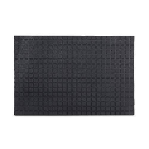 Relaxdays – Felpudo Rectangular para la Entrada del hogar, 60 x 40 cm, Caucho Goma PVC, Antideslizante, Color Negro