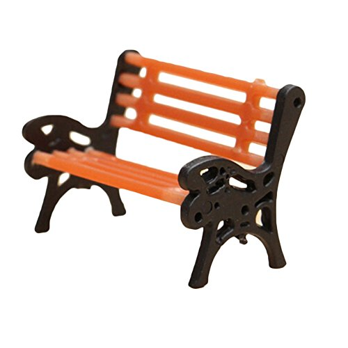 Outflower Jolie chaise miniature pour jardin féérique - Décoration de jardin - Mini pot de fleurs - Accessoire en résine - Décoration d'intérieur et de jardin - Taille S : 2 x 1 x 1,5 cm