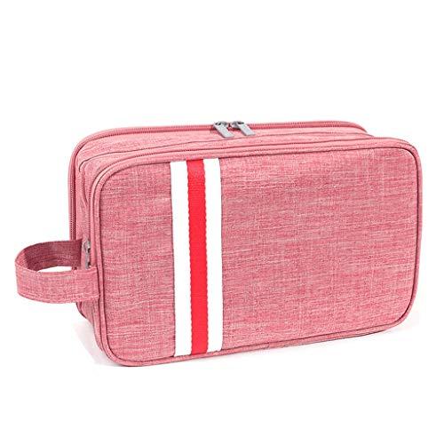 Gran Bolsa cosmética Malla Bolsa de Maquillaje Bolsa de Cremallera de Cremallera Organizador cosmético de Viaje para Mujeres para Mujeres Hombres -s/l 5 Colores (Color : Pink, tamaño : Large)