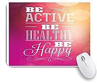 KAPANOU マウスパッド、フィットネスはアクティブになり、健康になりますプリント おしゃれ 耐久性が良い 滑り止めゴム底 ゲーミングなど適用 マウス 用ノートブックコンピュータマウスマット