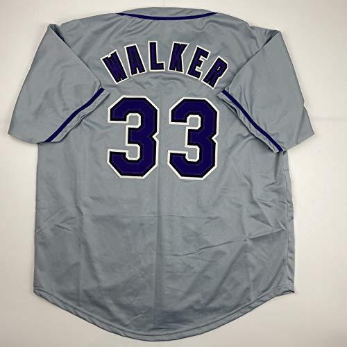 Unsigned Larry Walker Colorado Grey Custom Stitched Baseball Jersey Size Men's XL New No Brands/Logos