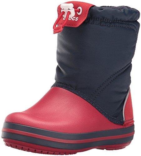 Crocs Crocband LodgePoint Boot Kids, Unisex - Kinder Schneestiefel, Blau (Navy/Red), 29/30 EU