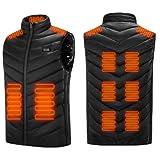 QWEZXCMI Chaleco climatizado 2022 Invierno USB Chaleco climatizado Hombres cálido Chaqueta sin Mangas con calefacción eléctrica Chaleco al Aire Libre Chaleco de calefacción de Chaleco,7XL