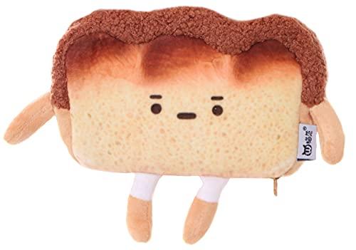 LB-7052-1 Toast Brot-Männchen mit niedlichem Gesicht braun Plüsch Damen Umhänge Tasche Kawaii