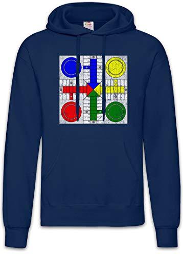 Urban Backwoods Parcheesi Board Hoodie Sudadera con Capucha Sweatshirt Azul Talla XL