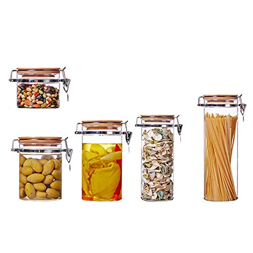 WANGLXST Vorratsdosen Set, Frischhaltedosen, BPA-frei Vorratsbehälter, Luftdicht Wasserdicht, Aufbewahrungsdose, um Lebensmittel Frisch zu Halten, Transparent