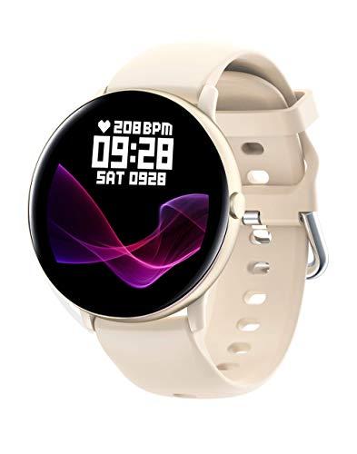 JINPXI Orologio intelligente da donna, smartwatch per la temperatura corporea, monitor del ritmo cardiaco in tempo reale, braccialetto di attività da donna, 8 modalità disattivate, cronometro, timer