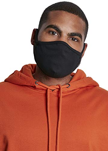 Urban Classics Unisex-Adult Cotton Face Mask 2-Pack Alltagsmaske, Black, one size