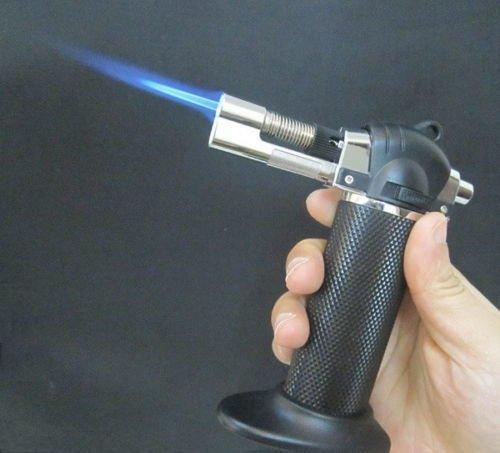 Butane Gas Micro Blow Torch Lighter Welding Soldering Refillable Tool Black 1300℃