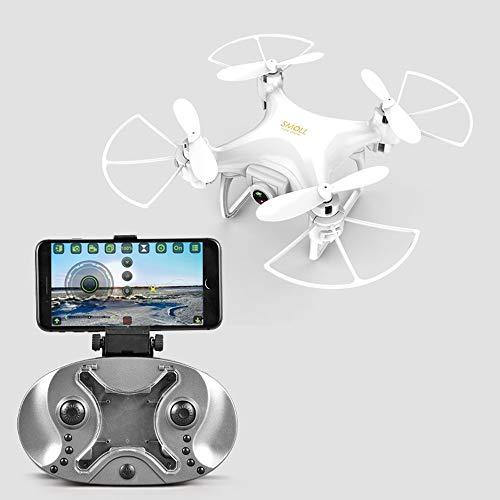 Mini Quadcopter Drone Zonder Camera Afstandsbediening Quadcopter Voor Kinderen LED-Licht Zwart Binnen Buiten Vliegend Quadcopter Model, Eenvoudige Bediening, Kan Een Cadeau Zijn Voor Uw Kind,White