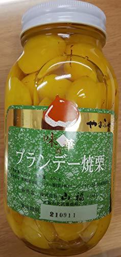 ブランデー 焼栗 ( M ) 1100g ( 固形850g ) ×6瓶(瓶35-45粒) こだわり 栗 甘露煮 業務用