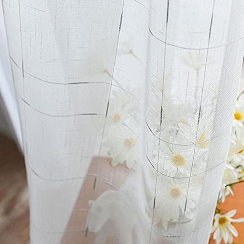 SDFW Cortinas Transparentes Sala de Estar, Lino, Lino, Textura, Tul, Cortina, Panel, Dormitorio, Tratamiento de Ventanas, Cortinas de decoración del hogar