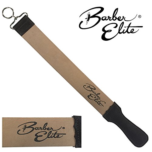 Barber Elite Genuine Leather Sharpening and Honing Strop 19.75'