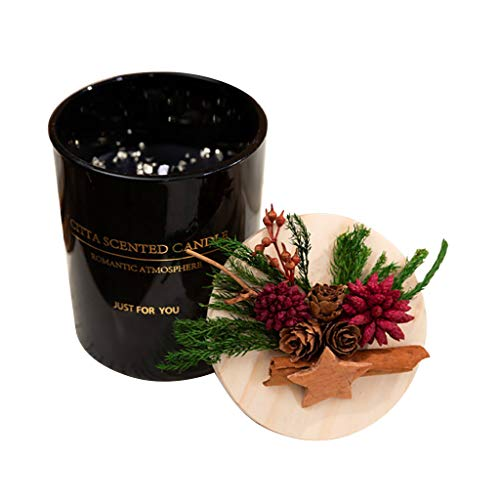 Luccase Aromatherapie Kerzen 19x18x8cm Duftkerzen Geschenkset Natürliche Sojawachs Aromatherapie Entspannung Kerzen Natürliches Sojawachs Geschenk Valentinstag Kerze (B)