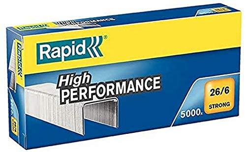 Rapid 24862000 Heftklammern (26/6mm Strong verzinkt) 5000 Stück