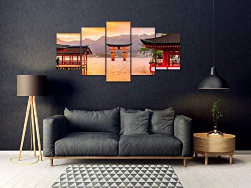 Oedim Pack de 5 Cuadros en PVC Santuario Japón | 200x100cm | Conjunto de Piezas | Decoración del Hogar | Elementos Decorativos de Habitaciones |