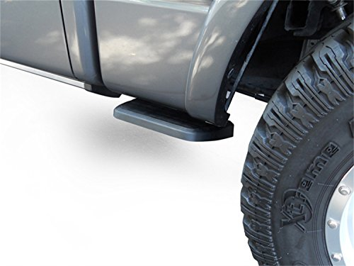 AMP Research 75413-01A BedStep2 Retractable Truck Bed Side Step for 2017-2021 Ford F-250/F-350, All Beds , Black