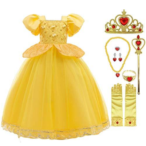 Fanessy nias disfraz de Cenicienta Cenicienta princesa vestido tut tul Maxi vestido nios carnaval disfraz Halloween fiesta disfraz