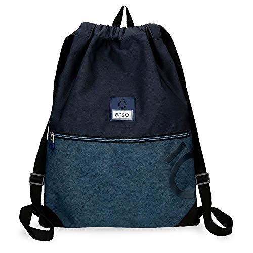 Enso Blue mochila Saco Azul 35x46 cms Poliéster