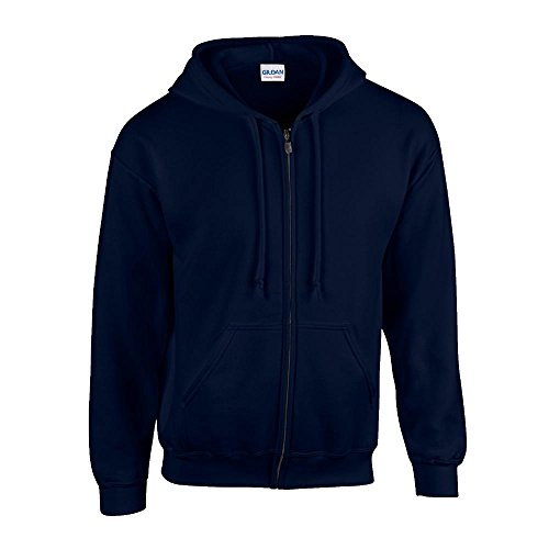 Gildan - Kapuzen-Sweatjacke \'Heavyweight Full Zip\' 4XL,Navy