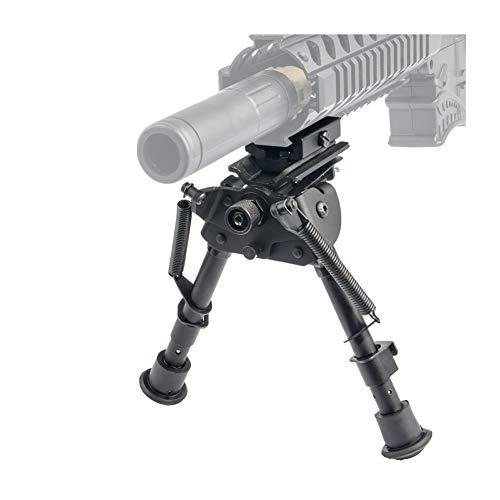 ToopMountBípode táctico de Montaje de cañón Bípode 6-9 Pulgadas - Perno Giratorio Tensión de Resorte Extensible Ajustable para el Rifle de Aire