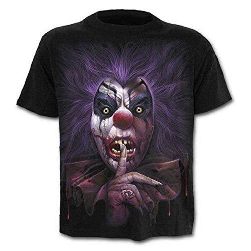 Lovelegis T-Shirt - Maglietta - Maglia Clown - Pagliaccio - 3D - Maniche Corte - Uomo - Donna - Unisex - Divertenti - Idea Regalo - Cosplay - Travestimento - Horror - Taglia M - C04