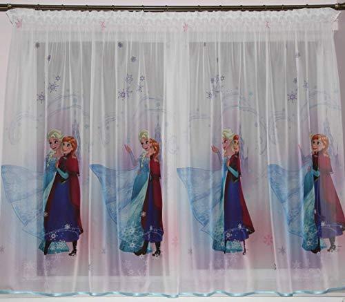 Polontex Gardinen mit universalband Die Eiskönigin Frozen 150cmB x 150cmL Kinderzimmer Vorhang Disney EISONIGIN