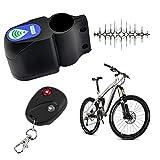 HFXZ2018 Alarma antirrobo de Bicicleta, Cerradura de Seguridad de Ciclismo con Control Remoto inalámbrico, Alarma de Bicicleta de Seguridad de 105db para Tienda/hogar/Bicicleta de montaña
