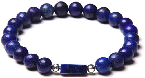 AnimeFiG Pulsera de Piedra Mujer, 7 Chakra Piedra Natural Bangle Bangle Lapis Lazuli Pulsera Elástica Yoga Boho Lucky Best Friend Jewelry para Hombres Señoras