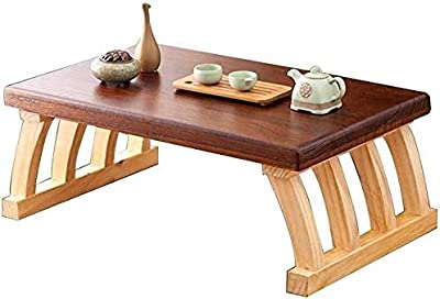 Coffee Table Coffee Table, Living Room Furniture Modern Minimalist Antique Wooden Table Japanese Low Table Bed Balcony Small Coffee Table Small Coffee Tables (Color : Brown, Size : 30 * 40 * 60cm)