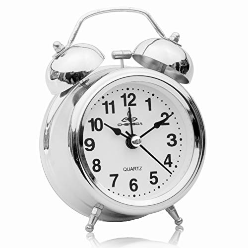 SAPPHIRE INDIA Twin Bell Alarm Clock – Perfect for Heavy Sleepers – Loud Bell Alarm – Sweep Movement – Upgraded Version